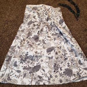Old Navy Size 14 Strapless Floral Summer Dress